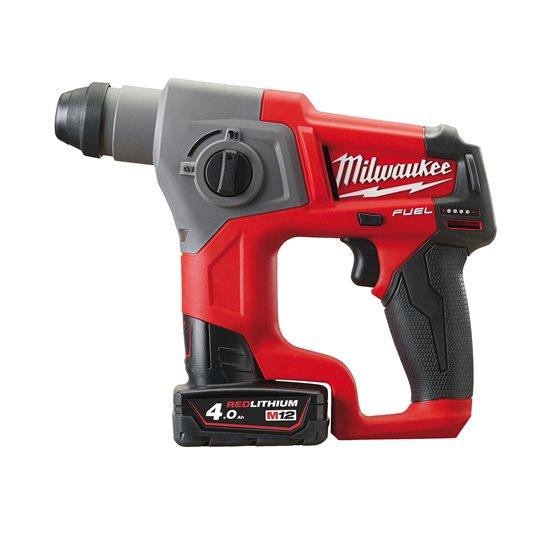 Milwaukee M12 CH/4.0 Ah + HD Box  FUEL Akku-Bohrhammer