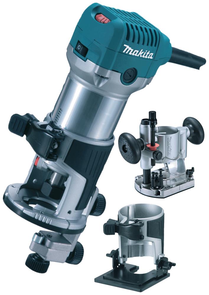 Makita Oberfräse + Trimmer 710 W RT0700 CX2J